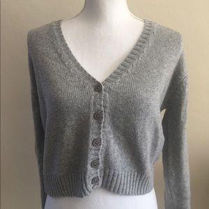 Brandy Melville Gray Billie cardigan sweater